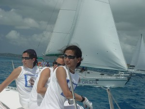 Tripulacion en Antigua Sailing Week.