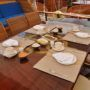 Gozdem I aft deck dining table