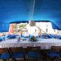 Grandi aft deck dining area