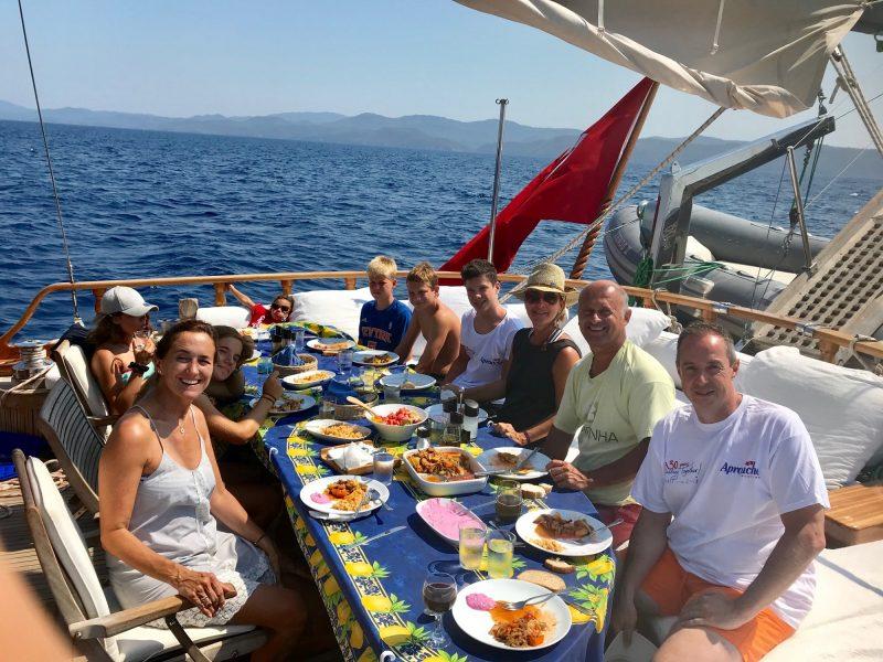 Flotilla-Turquia-Goleta-Aproache-vacaciones-familiar